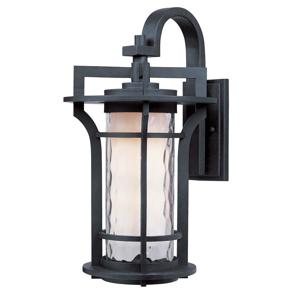 Oakville 8 in. W 1-Light Black Oxide Outdoor Wall Lantern Sconce