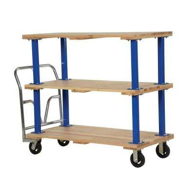 27 in. x 54 in. Triple Deck Hardwood Platform Cart