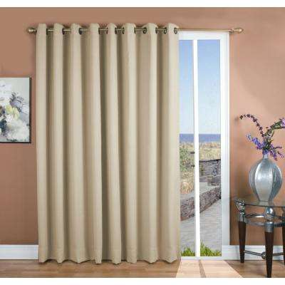 Ultimate Blackout 112 in. W x 96 in. L Polyester Blackout Panel in Ivory