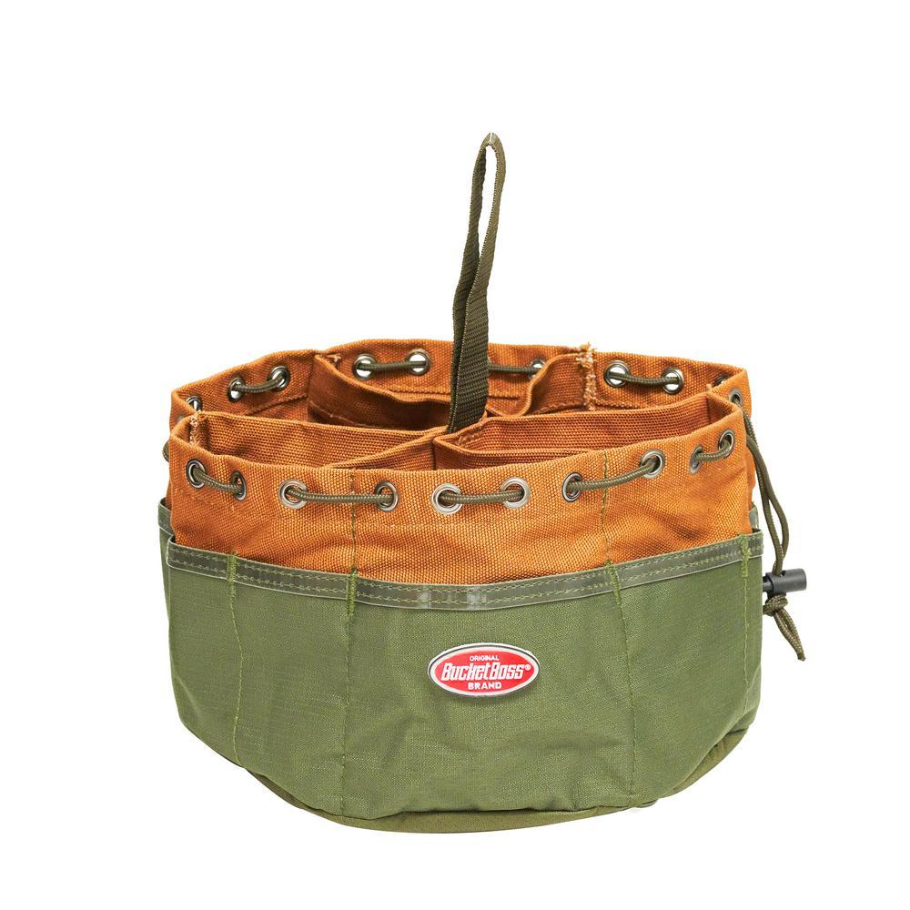 10 in. Parachute Parts Tool Bag in Brown