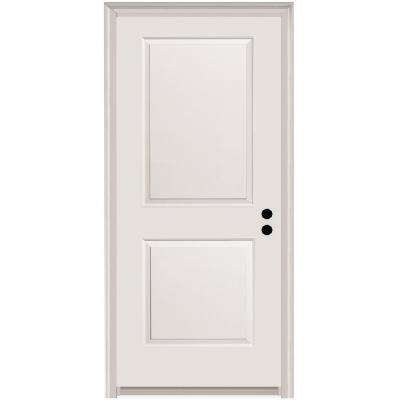 32 in. x 80 in. Carrara Left-Hand Primed Composite 20 Min. Fire-Rated House-to-Garage Single Prehung Interior Door