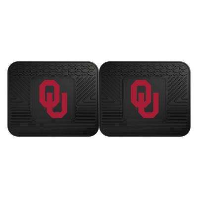 NCAA University of Oklahoma Black Heavy Duty 2-Piece 14 in. x 17 in. Vinyl Utility Mat