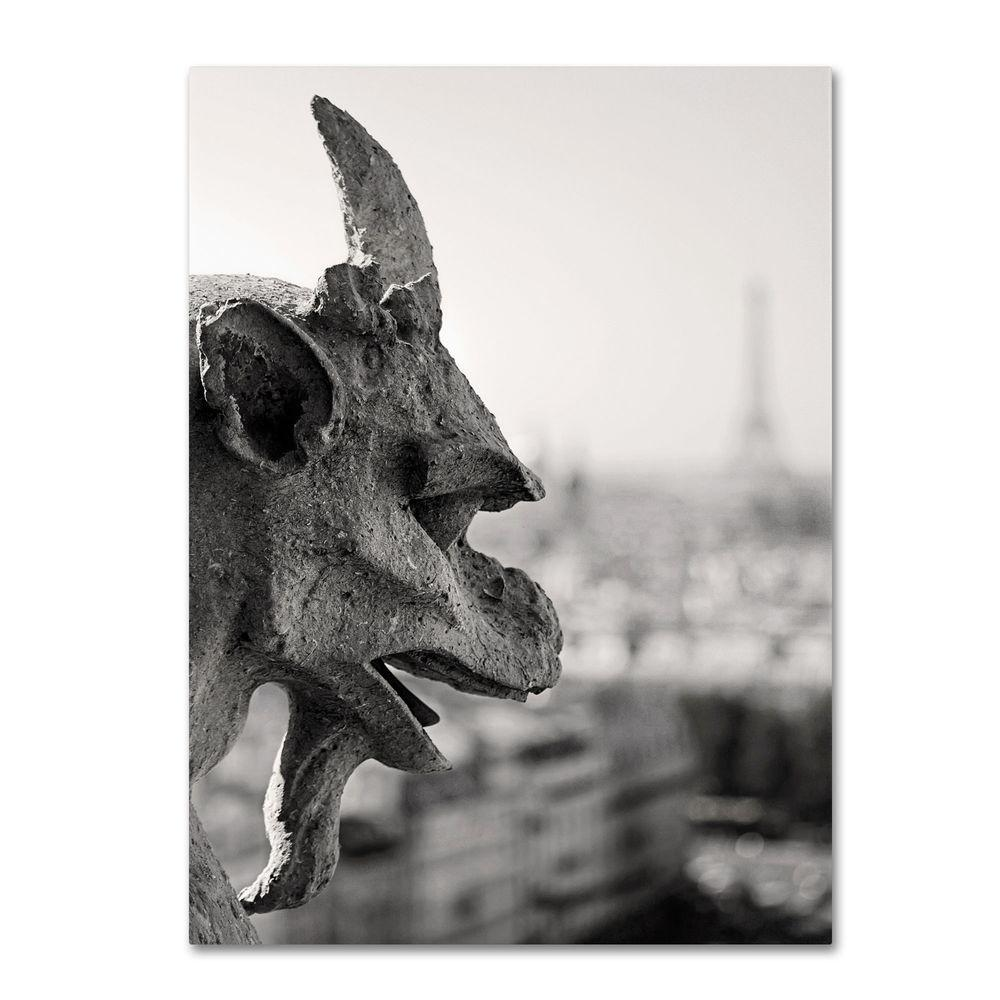 22 in. x 32 in. Gargoyle Paris Canvas Art