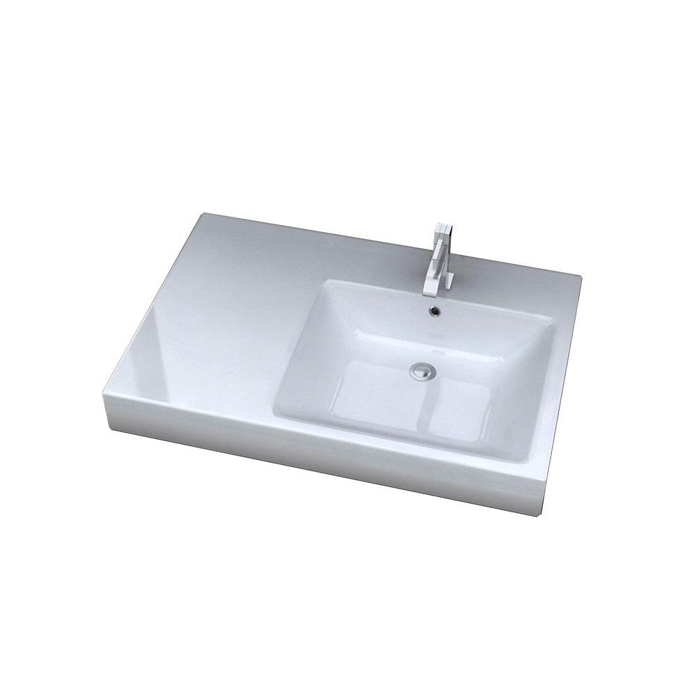 Cantrio Console Sink Tabletop in White