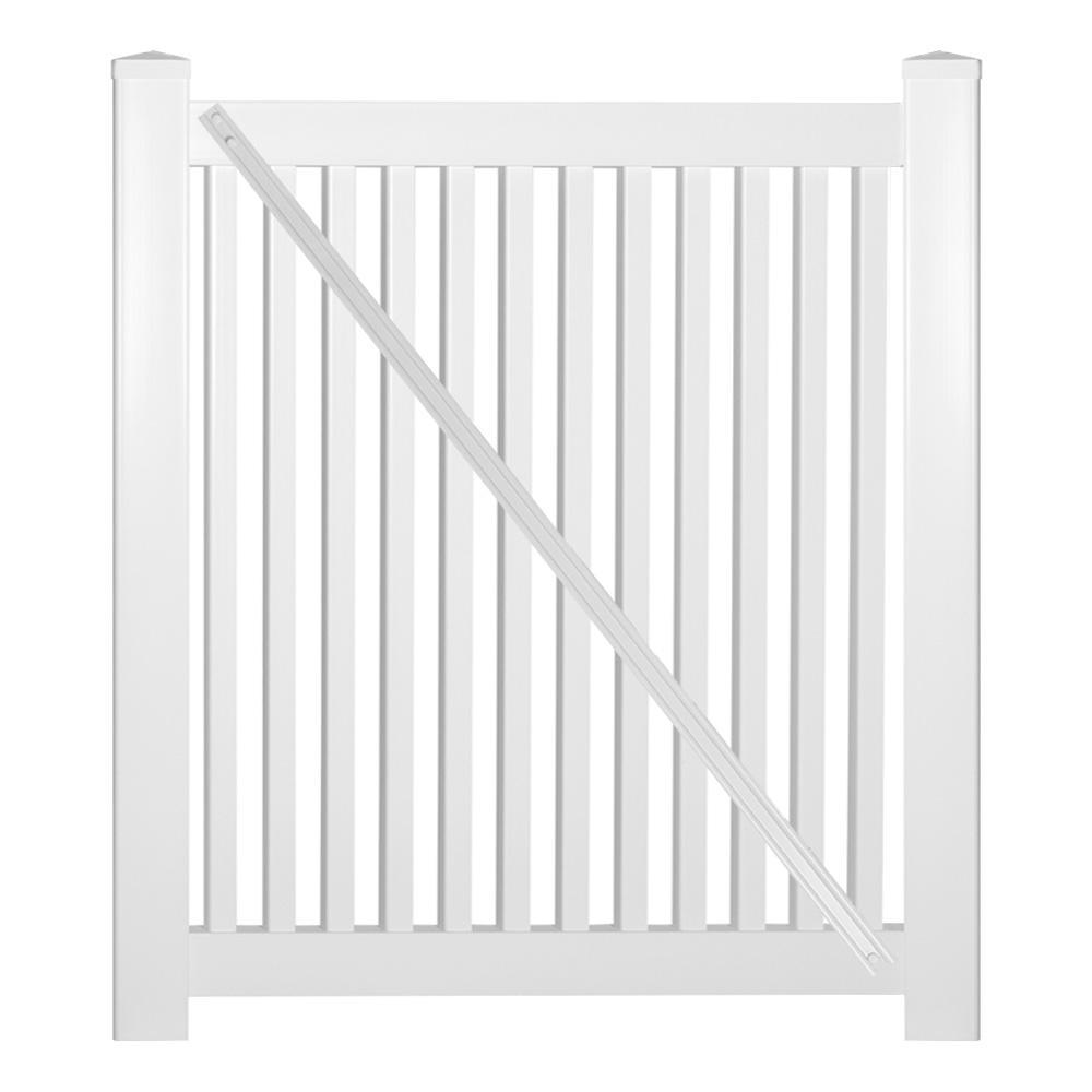 Williamsport 4 ft. W x 4 ft. H White Vinyl Pool Fence Gate
