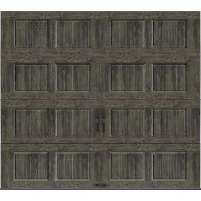 Gallery Collection 9 ft. x 8 ft. 18.4 R-Value Intellicore Insulated Solid Ultra-Grain Slate Garage Door