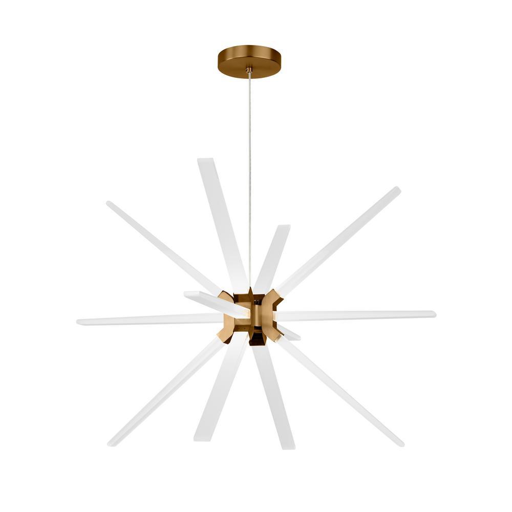 Lbl Lighting Photon 12-Light Aged Brass LED Chandelier