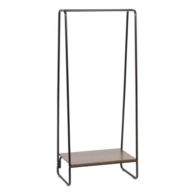 Black Metal Clothes Rack with Shelf (16 in. W x 59 in. H)