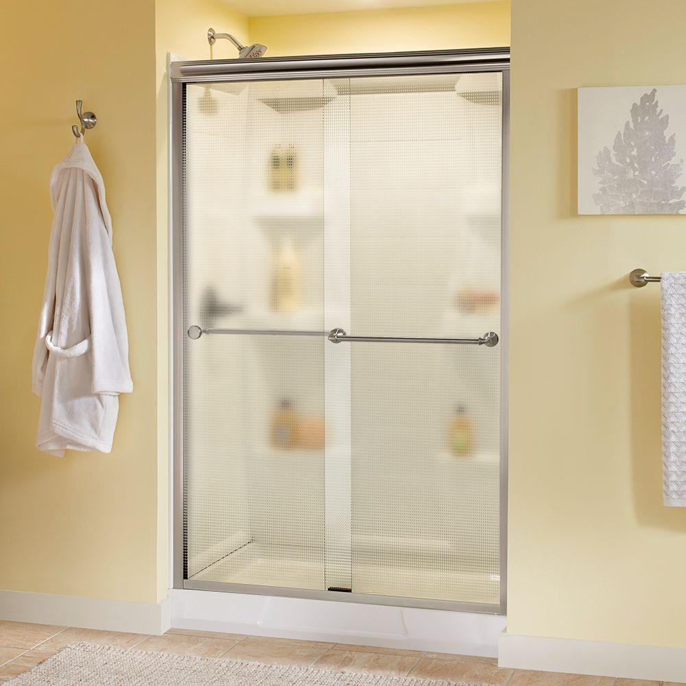 Delta Mandara 48 In. X 70 In. Semi Frameless Sliding Shower Door In