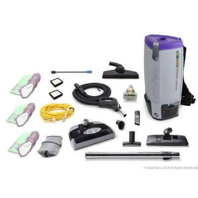 Loaded Super Coach Pro 10 Qt. Commercial Backpack Vacuum Cleaner with Power head