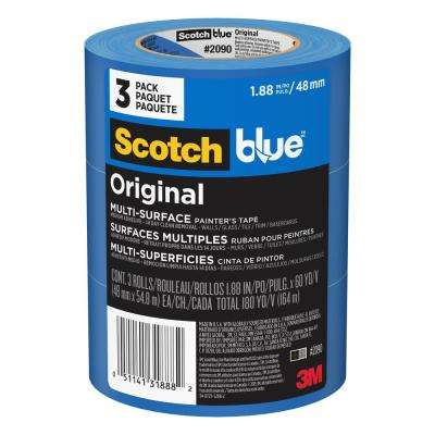 1 88 in  x 60 yd  (48 mm x 54,8 m), Original Multi-Surface Painter's Tape  (Value Pack, 3 Rolls/Pack)