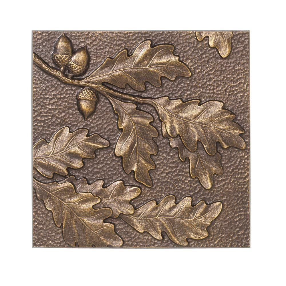 Whitehall Products 8 in. Oak Leaf Aluminum Wall Decor