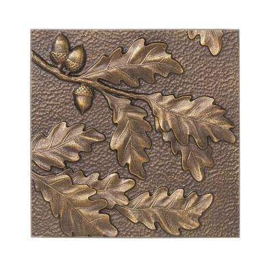 8 in. Oak Leaf Aluminum Wall Decor
