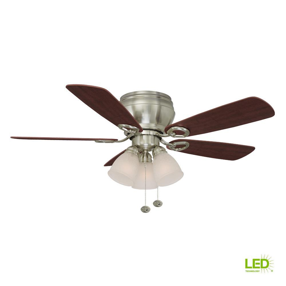 Whitlock 44 in. LED Indoor Brushed Nickel Ceiling Fan with Light