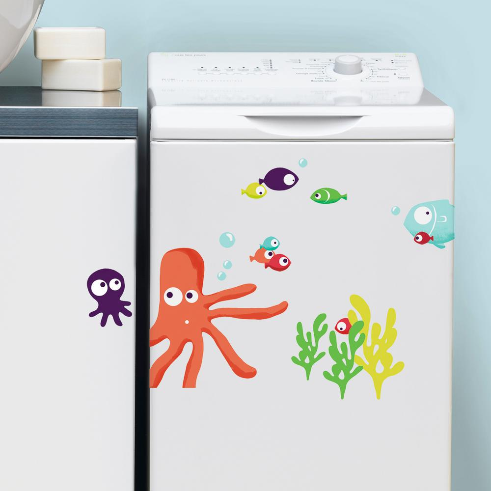 NOUVELLES IMAGES Multicolor Octopus Wall Decal