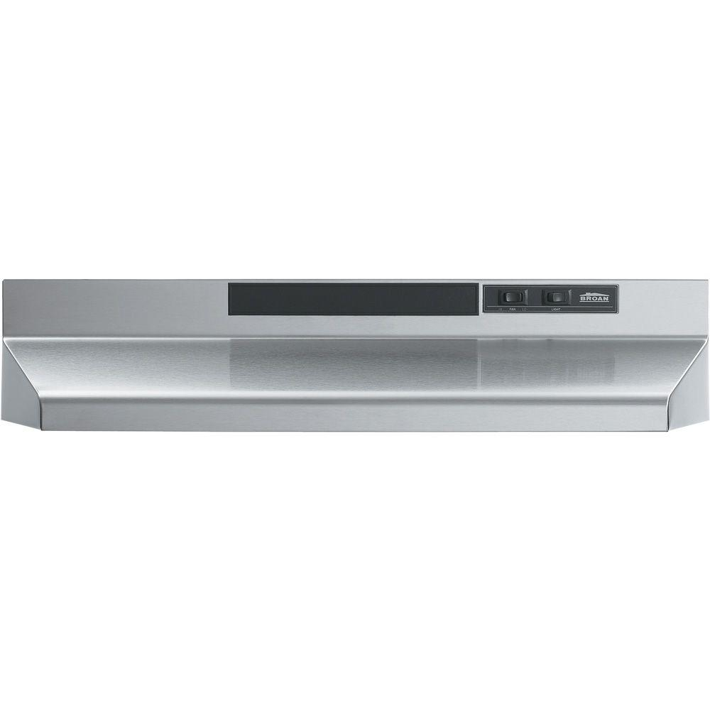 Broan F40000 Series 42 In Convertible Under Cabinet Range Hood With Light Stainless Steel