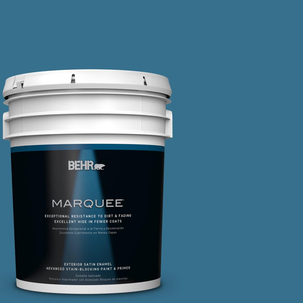 5-gal. #M490-6 Living Stream Satin Enamel Exterior Paint