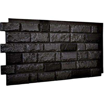 1-1/2 in. x 48 in. x 25 in. Graphite Urethane Cut Coarse Random Rock Wall Panel