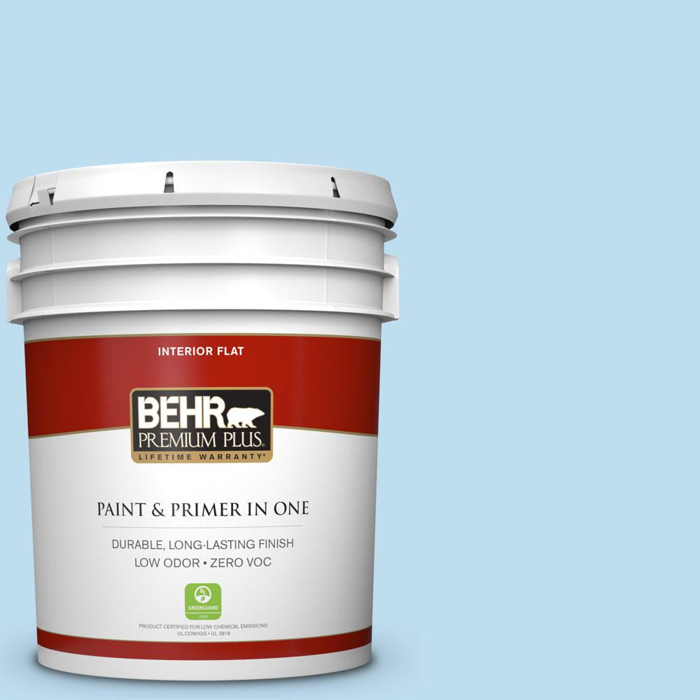 BEHR Premium Plus 5-gal. #550A-2 Tropical Pool Zero VOC Flat Interior Paint