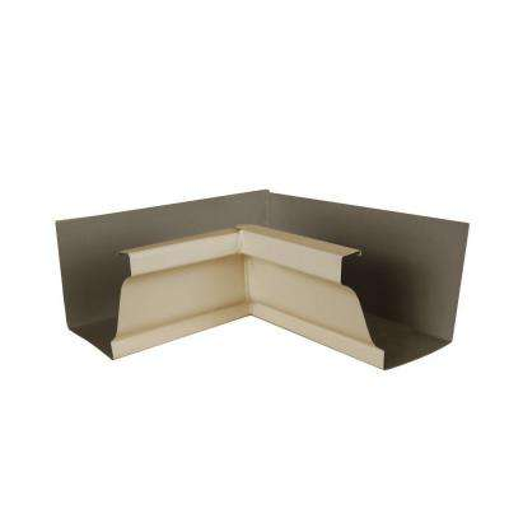 6 in. Almond Aluminum Inside Box Gutter Miter