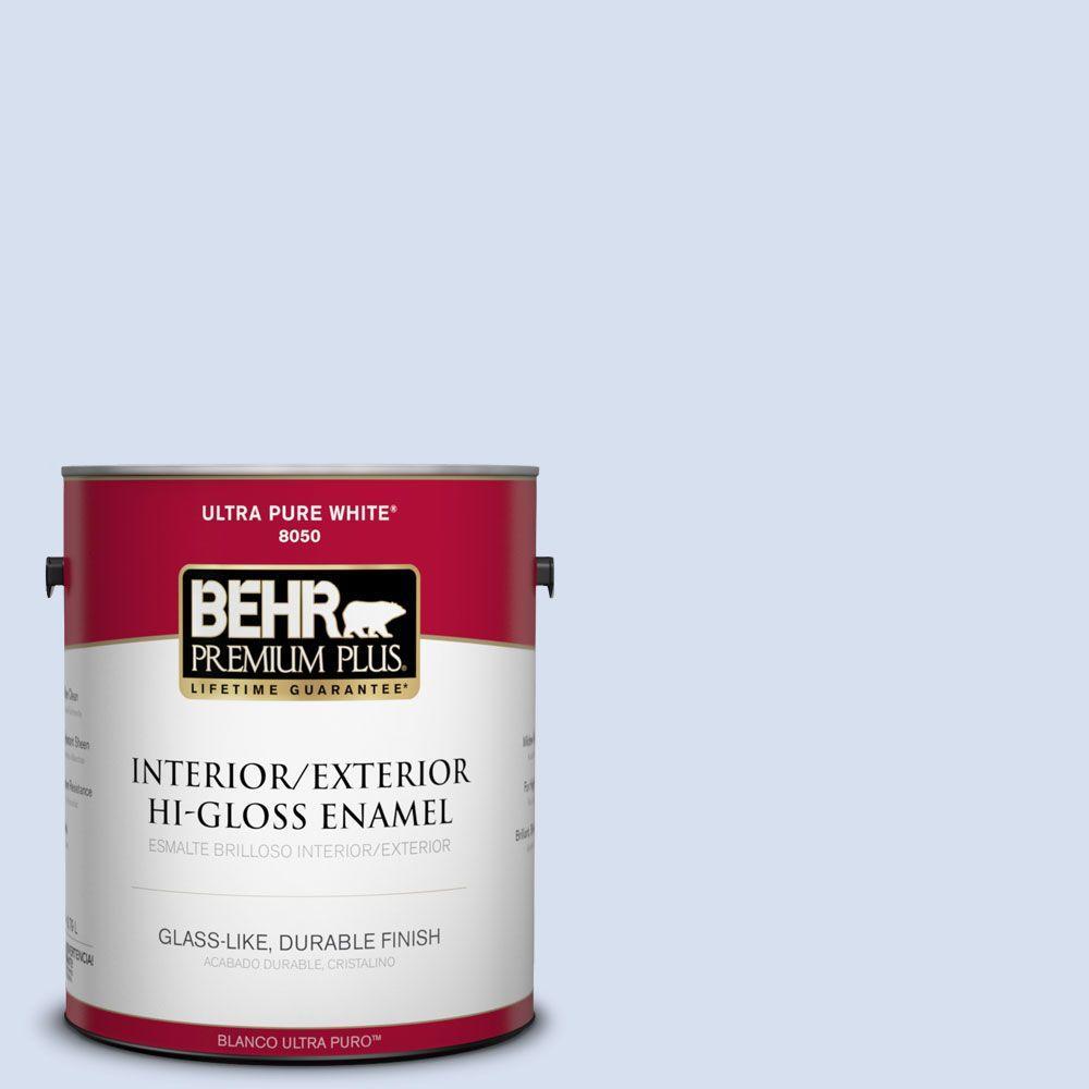 BEHR Premium Plus 1-gal. #580A-2 Icy Bay Hi-Gloss Enamel Interior/Exterior Paint