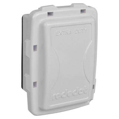 1-Gang Extra Duty Non-Metallic While-In-Use Weatherproof Horizontal/Vertical Receptacle Cover - White (Case of 7)