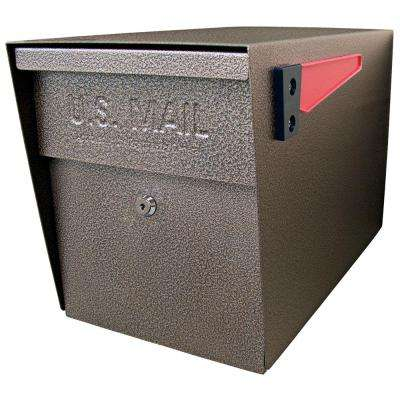 Locking Post-Mount Mailbox with High Security Patented Lock, Bronze
