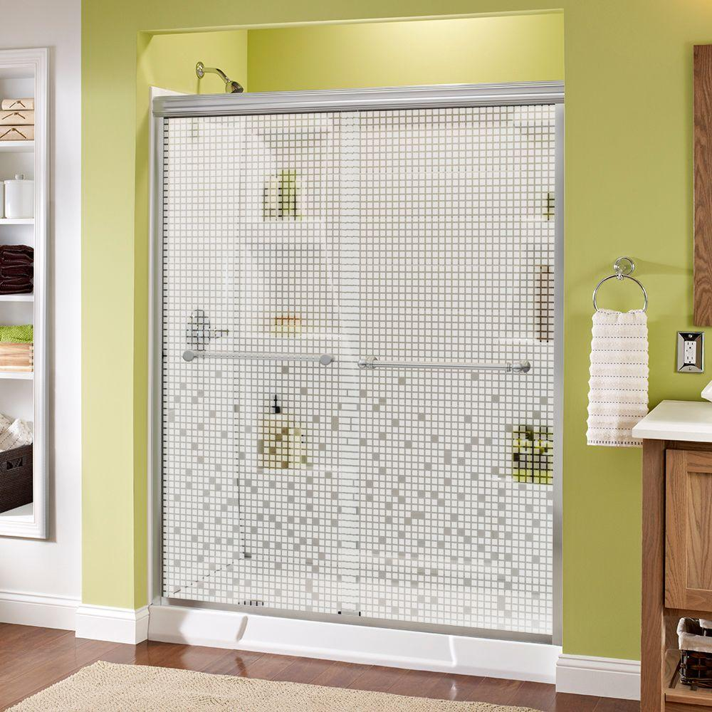 Silverton 60 in. x 70 in. Semi-Frameless Traditional Sliding Shower Door