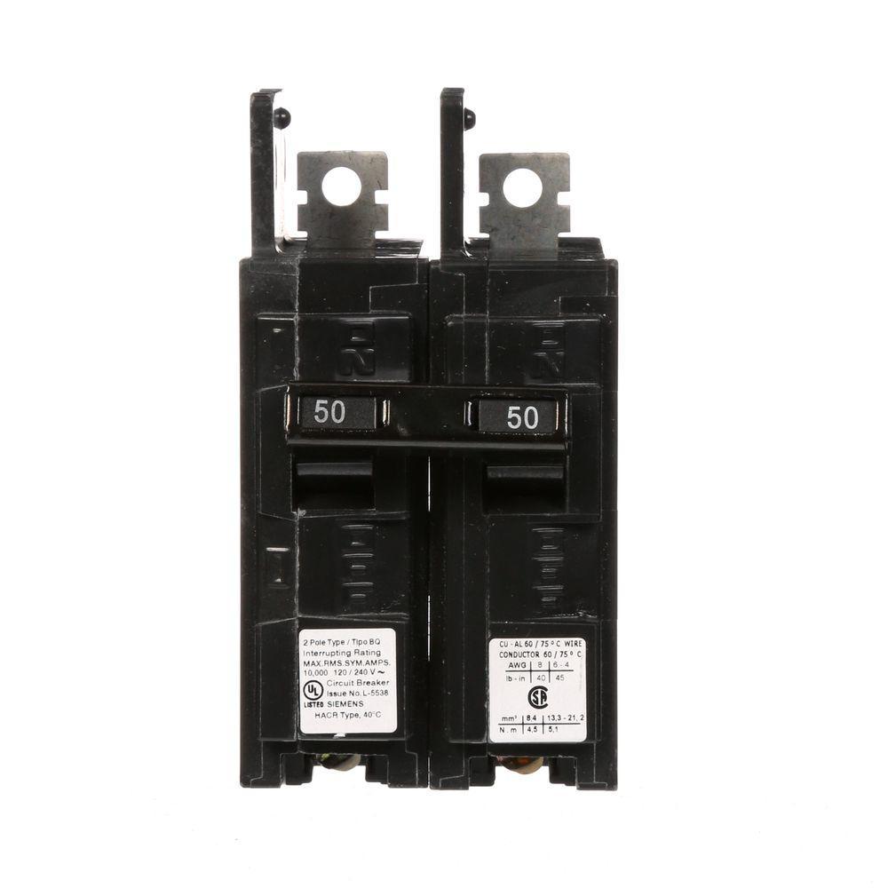 Siemens 50 amp double pole type bq 10 ka lug inlug out circuit siemens 50 amp double pole type bq 10 ka lug inlug keyboard keysfo Images