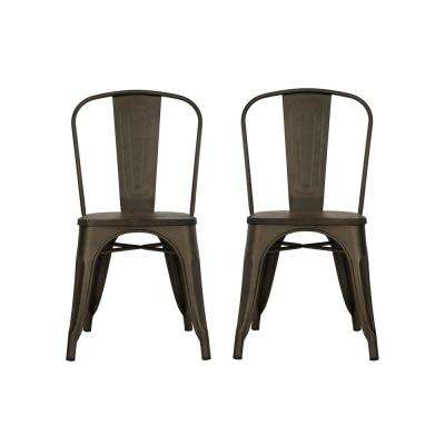 Penelope Antique Copper Dining Chair (Set of 2)