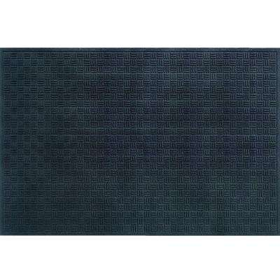 Black 48 in. x 72 in. Recycled Rubber Commercial Door Mat