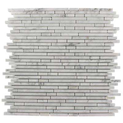 Windsor Random Oriental 12 in. x 12 in. x 8 mm Marble Floor and Wall Tile