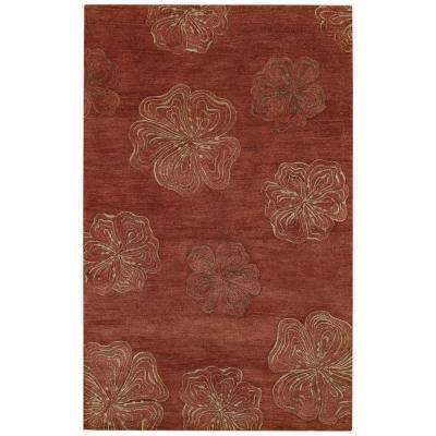 Desert Plateau Hibiscus Red 5 ft. x 8 ft. Area Rug