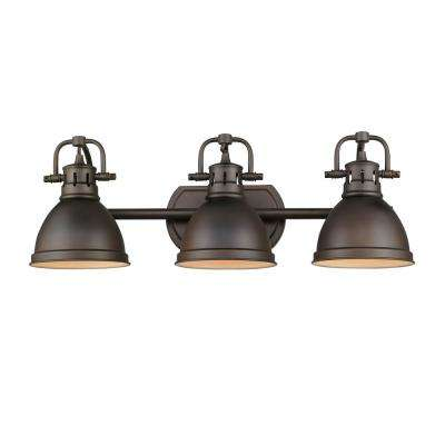 Duncan 3 Light Rubbed Bronze Bath Light
