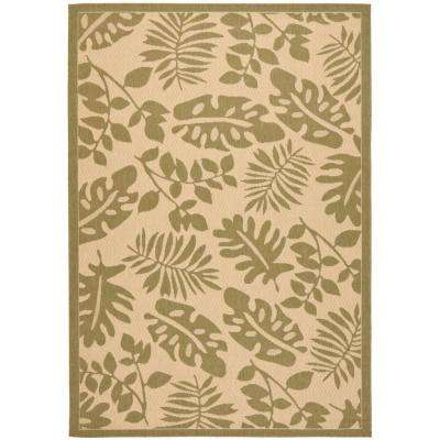 Paradise Cream/Green 4 ft. x 5 ft. 7 in. Area Rug