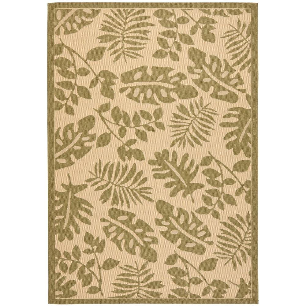 Martha Stewart Living Paradise Cream/Green 6 ft. 7 in. x 9 ft. 6 in. Area Rug