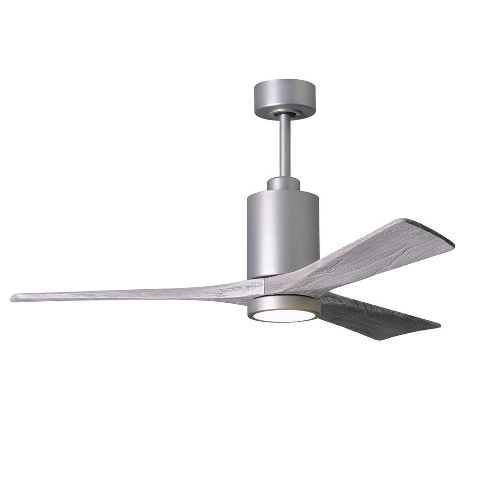 Patricia 52 in. LED Indoor/Outdoor Damp Brushed Nickel Ceiling Fan with