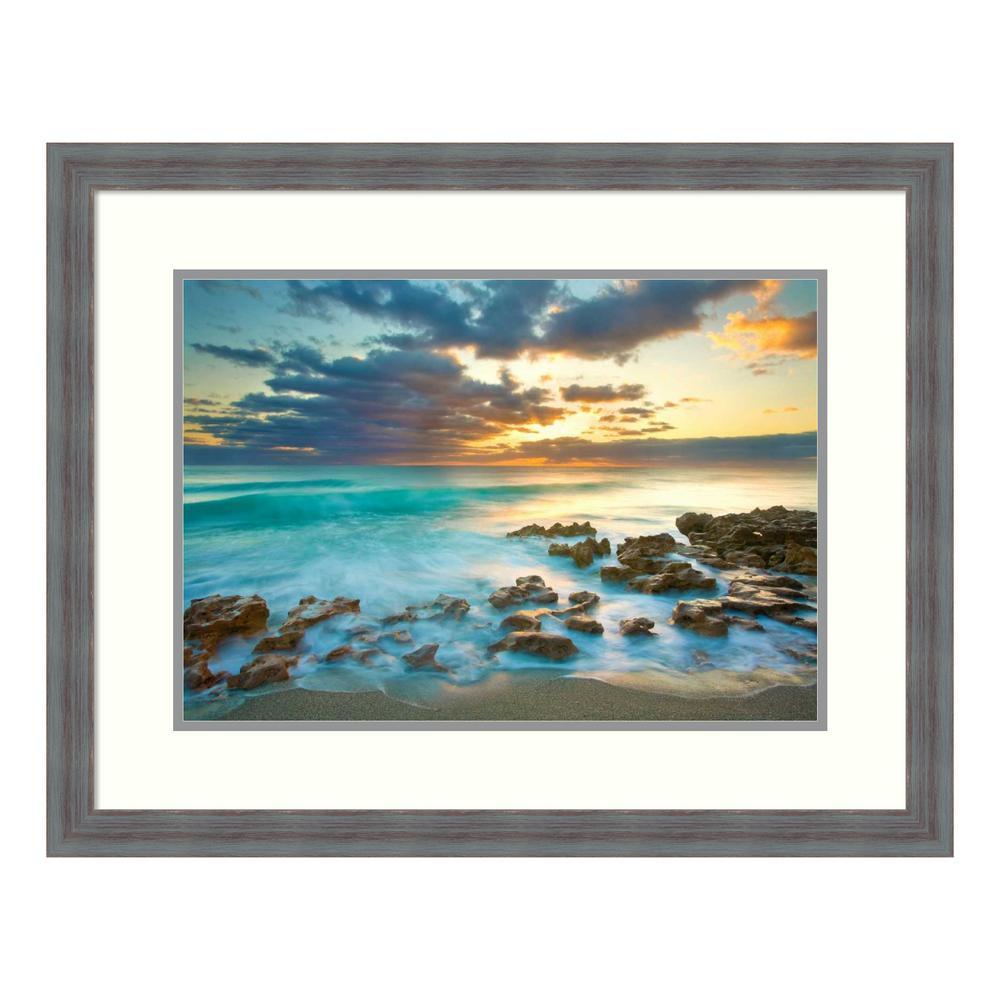 """Ocean Sunrise"" by Patrick Zephyr Framed Wall Art"