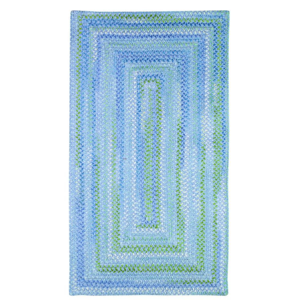 Capel Country Grove Concentric Deep Blue Sea 3 ft. x 5 ft. Area Rug