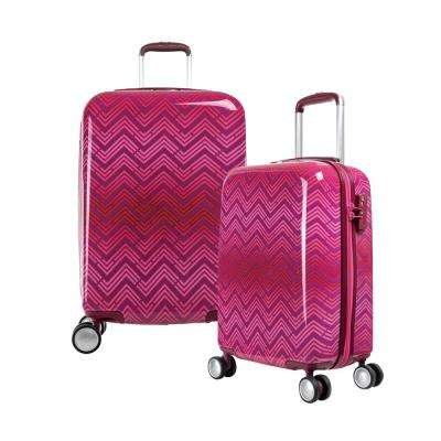 T-Line Ri 2-Piece Pink PC Luggage Set with TSA Lock