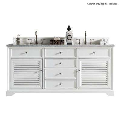 Savannah 72 in. W x 23.25 in. D Vanity Cabinet in Cottage White