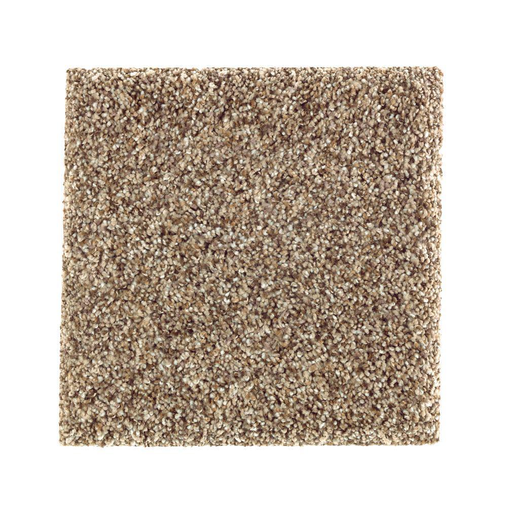 Carpet Sample - Sachet I - Color Squirrel Nest Texture 8 in. x 8 in.