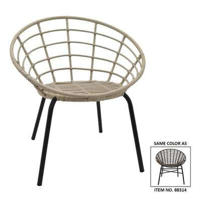 29.5 in. Brown Metal Chair