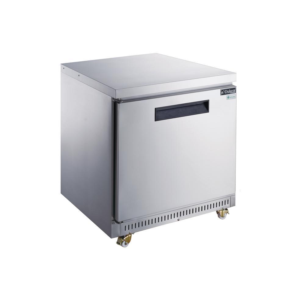 29 in. W 7 cu. ft. Single Door Undercounter Commercial Refrigerator in Stainless Steel