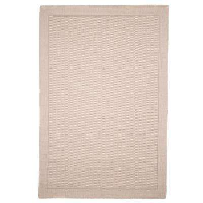 Solid Beige 5 ft. x 8 ft. Indoor/Outdoor Area Rug