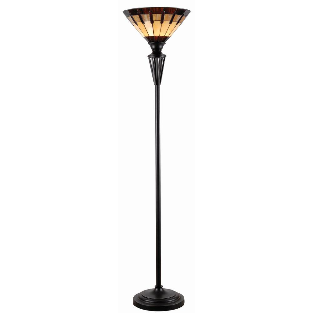 High Quality Kenroy Home Harmond 71 In. Tiffany Torchiere Lamp With Glass Shade