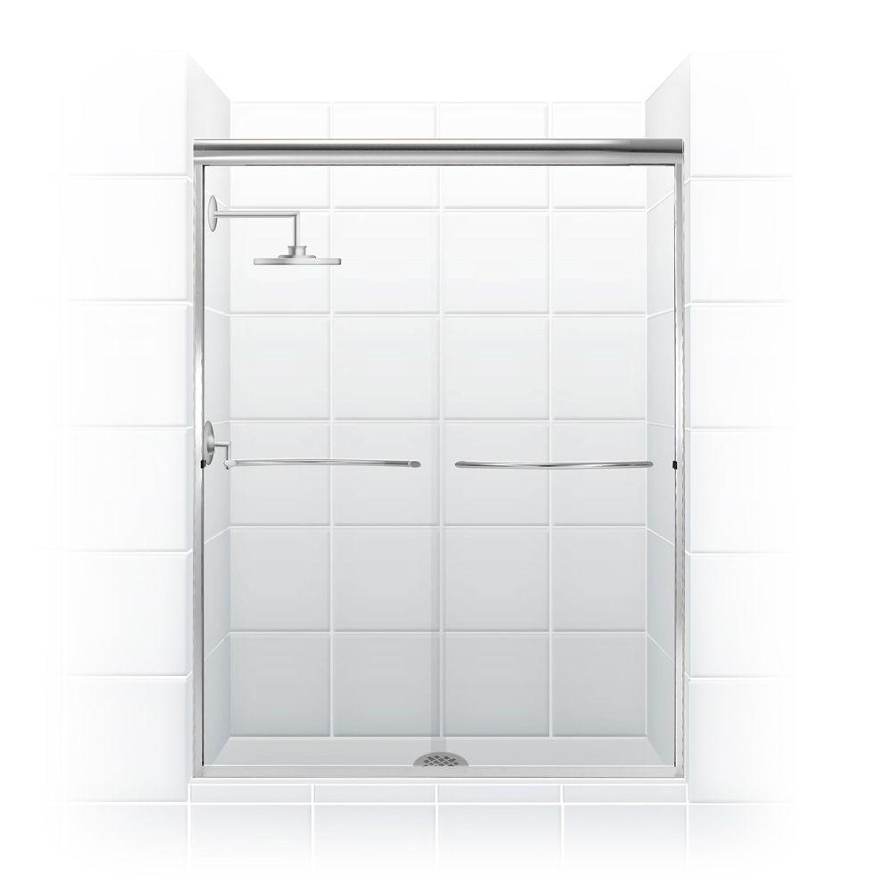 Paragon 1/4 Series 54 in. x 71 in. Semi-Framed Sliding Shower
