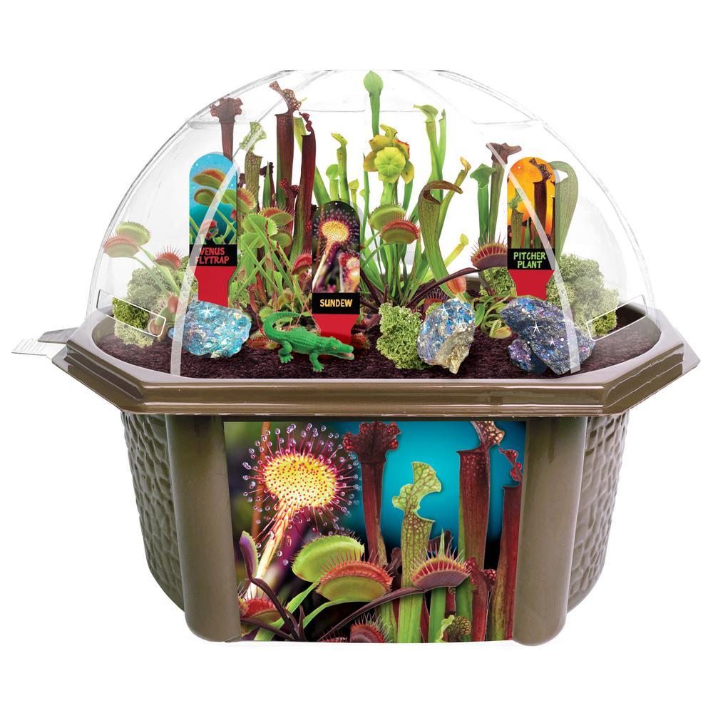 Biosphere Terrariums Brown Carnivorous Creatures Indoor Garden Terrarium Indoor Garden Seed Starter Kit