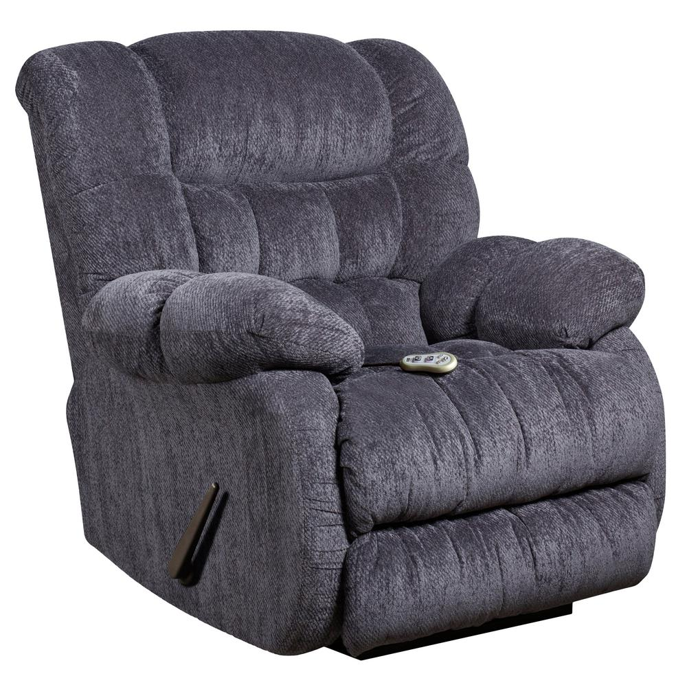 Superbe This Review Is From:Massaging Columbia Indigo Blue Microfiber Rocker  Recliner With Heat Control