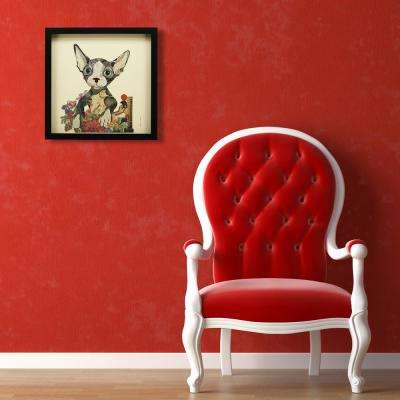 "17 in. x 17 in. ""Sphynx"" Dimensional Collage Framed Graphic Art Under Glass Wall Art"